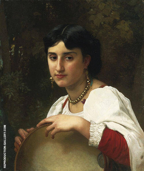 Italian with Tambourine By William-Adolphe Bouguereau