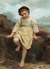 On The Rock By William-Adolphe Bouguereau