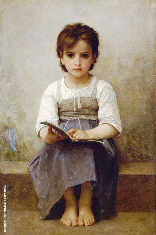 The Difficult Lesson 1884 By William-Adolphe Bouguereau