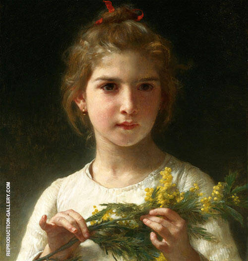 The Mimosa Flower 1899 By William-Adolphe Bouguereau