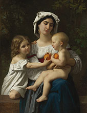 The Oranges By William-Adolphe Bouguereau