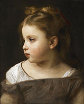 Young Girl in Profile By William-Adolphe Bouguereau