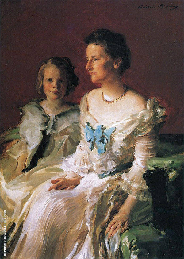Portrait of Mrs Theodore Roosevelt and her Daughter Ethel 1902 By Cecilia Beaux
