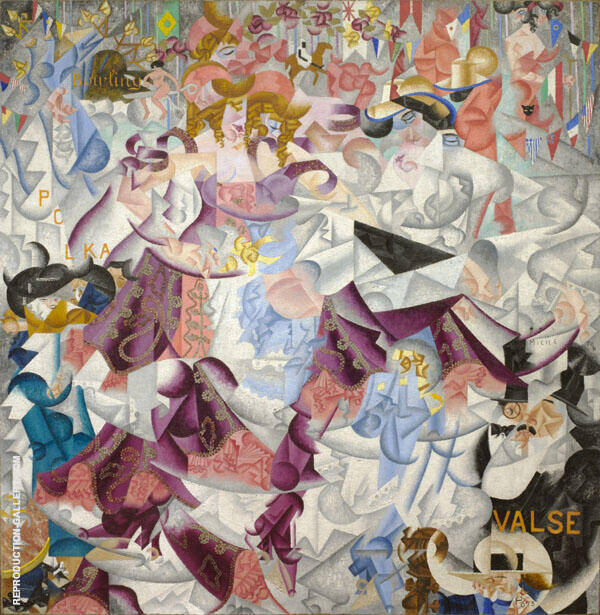 Dynamic Hieroglyphic of the Bal Tabarin 1912 By Gino Severini