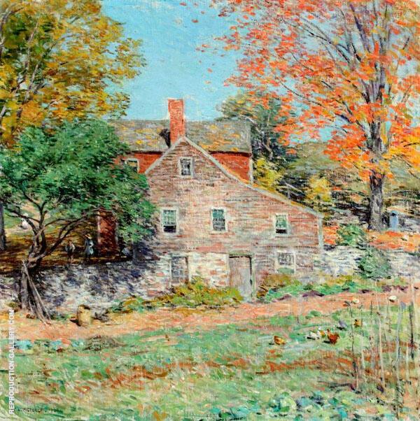 The Corner of the Garden By Willard Leroy Metcalfe