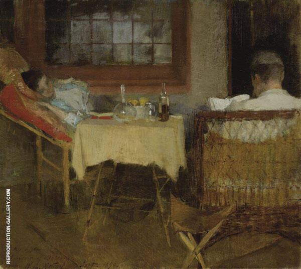 Ethelinda and James 1890 By Willard Leroy Metcalfe