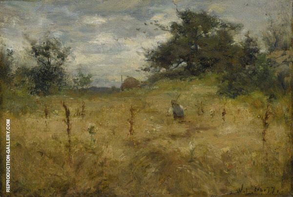 Grain Field By Willard Leroy Metcalfe