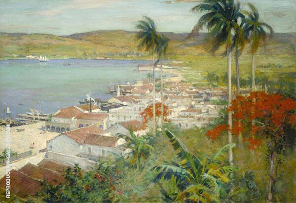 Havana Harbour 1902 By Willard Leroy Metcalfe