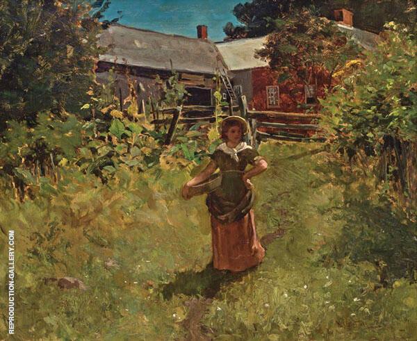 In the Garden 1878 By Willard Leroy Metcalfe