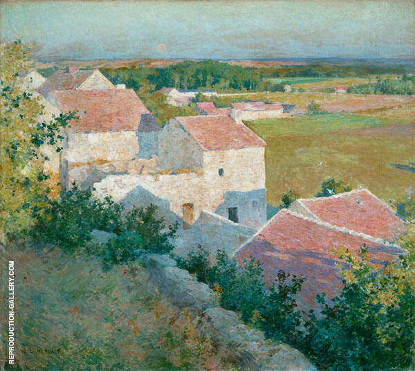 Midsummer Twighlight c1890 By Willard Leroy Metcalfe
