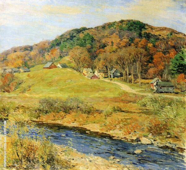 November Mist 1922 By Willard Leroy Metcalfe