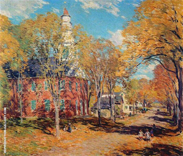 October Morning Deerfield 1917 By Willard Leroy Metcalfe