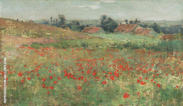Poppy Field 1886 By Willard Leroy Metcalfe