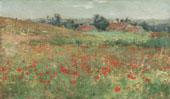 Poppy Field 1886 By Willard Leroy Metcalfe