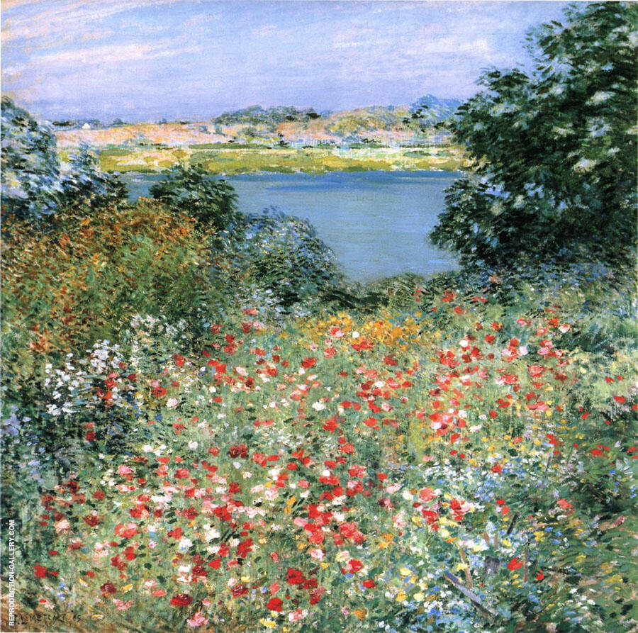The Poppy Garden 1905 By Willard Leroy Metcalfe