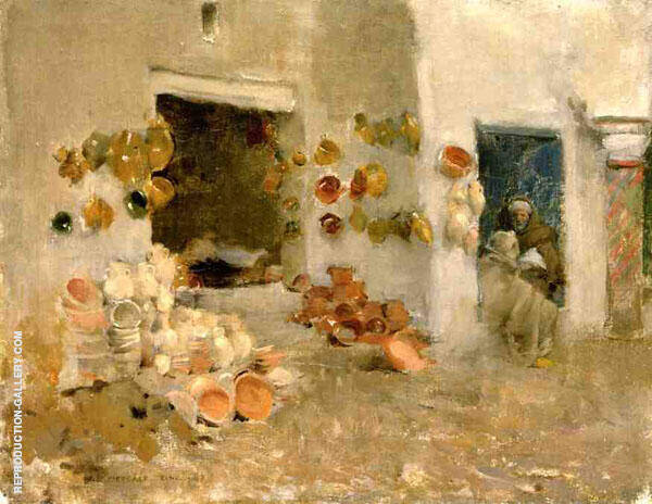 The Pottery Shop Tunis 1887 By Willard Leroy Metcalfe