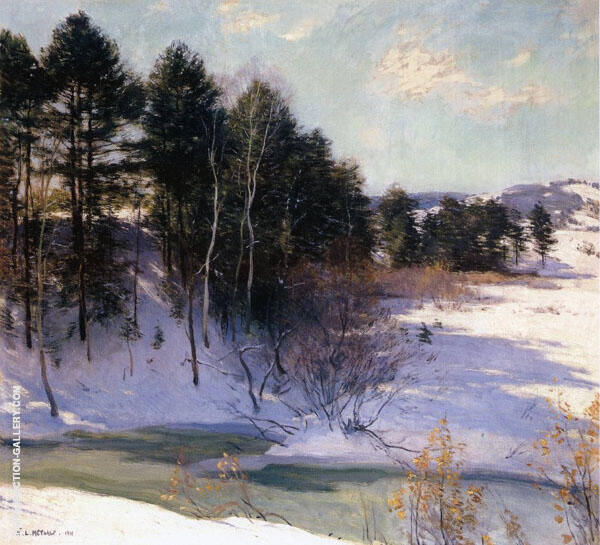 Thawing Brook 1911 By Willard Leroy Metcalfe