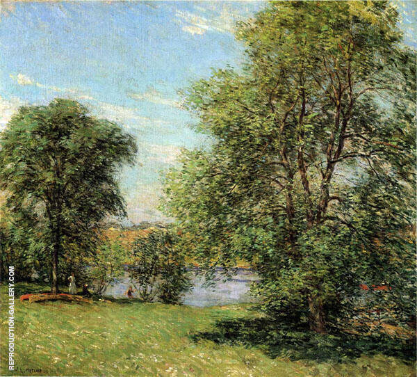 The Boat Landing 1902 By Willard Leroy Metcalfe