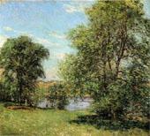 The Boat Landing 1902 By Willard Leroy Metcalfe