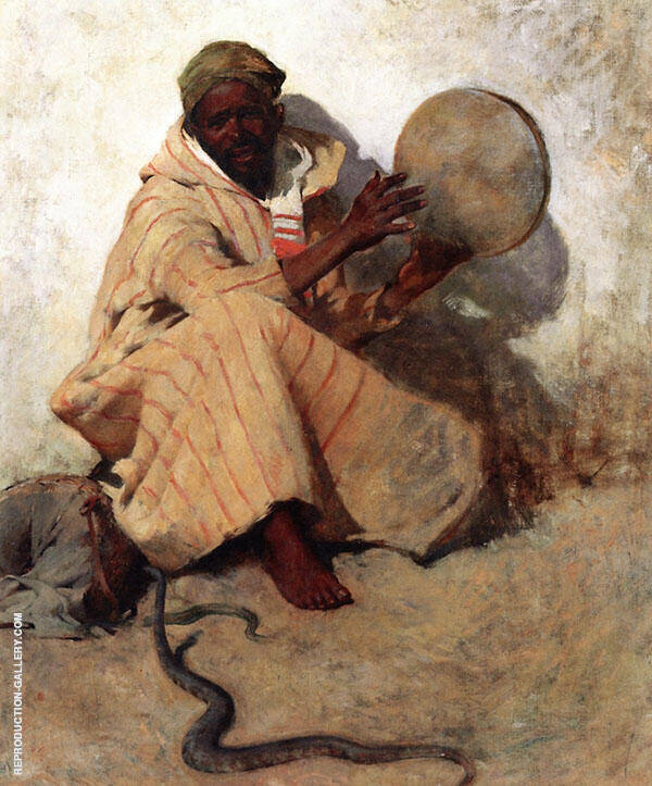 The Snake Charmer 1887 By Willard Leroy Metcalfe