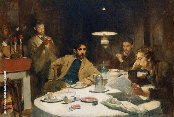 The Ten Cent Breakfast 1887 By Willard Leroy Metcalfe