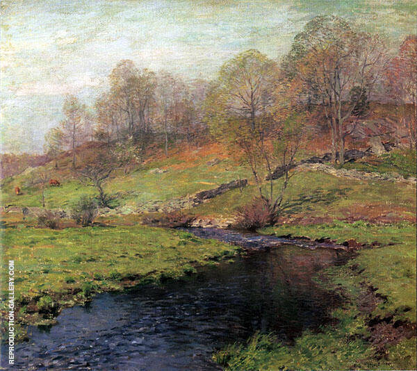 The Trout Brook 1907 By Willard Leroy Metcalfe