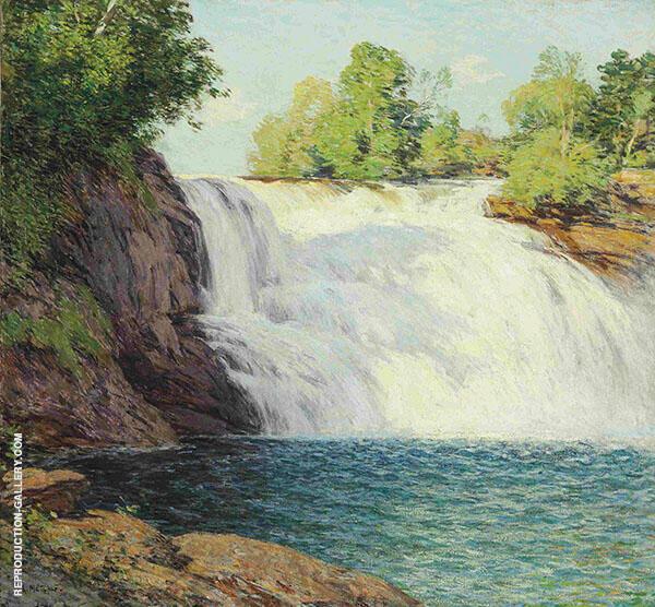 The Waterfall By Willard Leroy Metcalfe