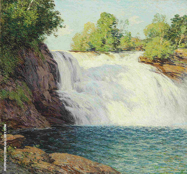 The Waterfall By Willard Leroy Metcalfe