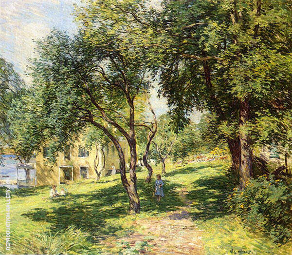 The Path 1915 By Willard Leroy Metcalfe
