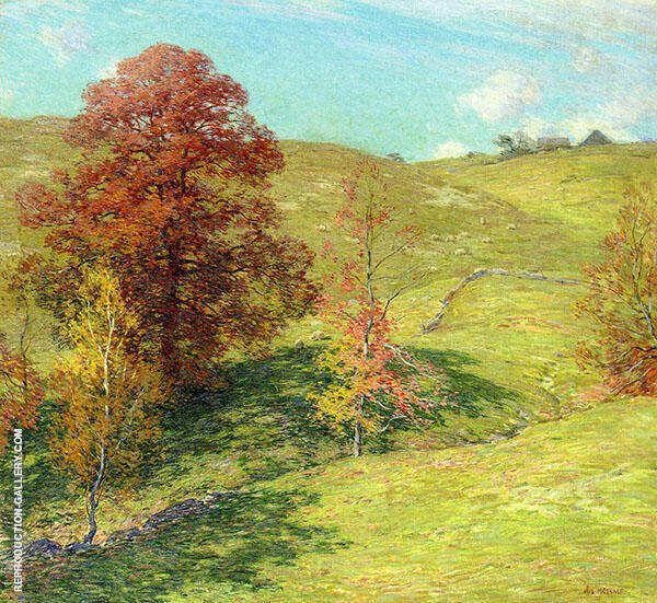 The Red Oak 1911 - 2 By Willard Leroy Metcalfe