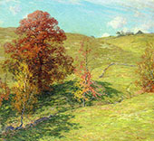 The Red Oak 1911 - 2 By Willard Leroy Metcalfe