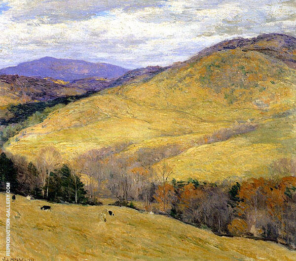 Vermont Hills November 1923 By Willard Leroy Metcalfe