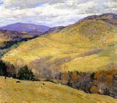 Vermont Hills November 1923 By Willard Leroy Metcalfe