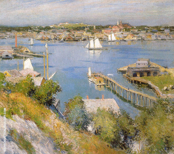 Gloucester Harbour 1895 By Willard Leroy Metcalfe