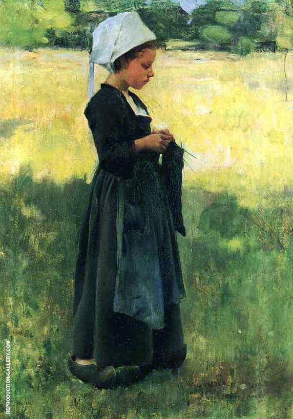 Breton Girl 1884 By Willard Leroy Metcalfe