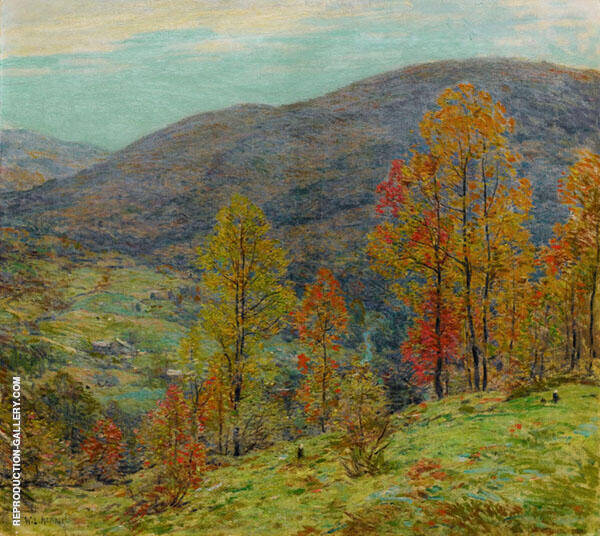 Autumn Glory By Willard Leroy Metcalfe