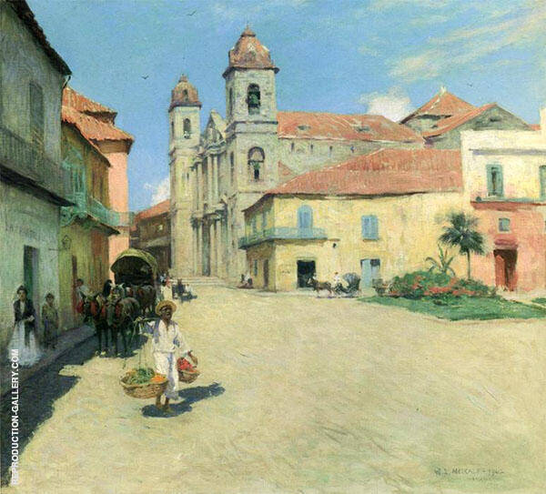 Havana Cathedral 1902 By Willard Leroy Metcalfe