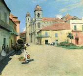 Havana Cathedral 1902 By Willard Leroy Metcalfe