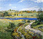 Autumn Roadside 1918 By Willard Leroy Metcalfe