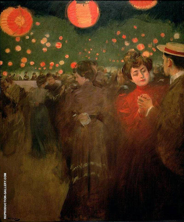 Bal Plein Air aka The Open Air Party By Ramon Casas
