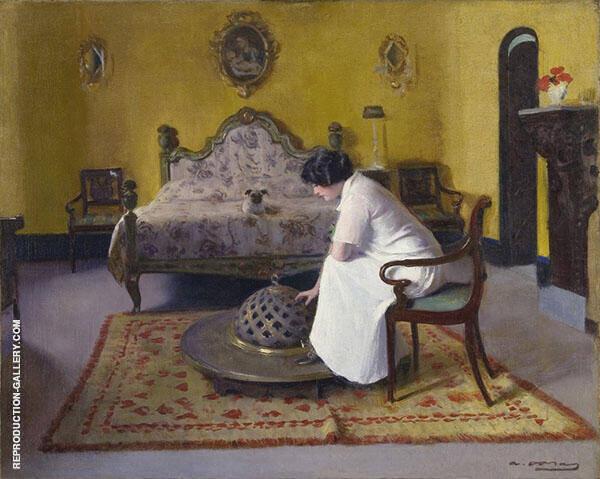 Girl with Shawl By Ramon Casas