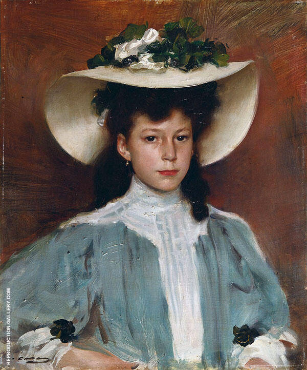 Potrait of Maria Caralt By Ramon Casas