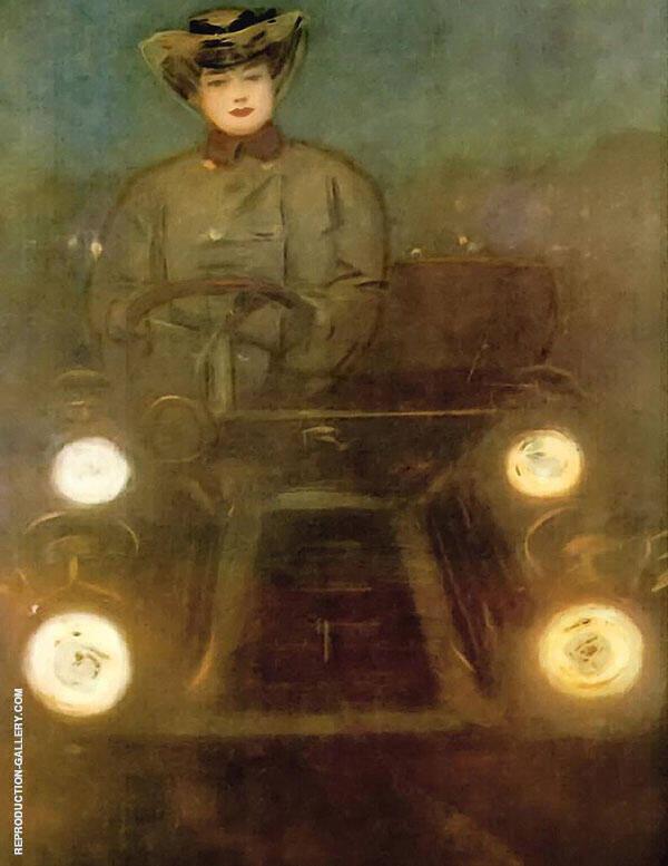 The Car By Ramon Casas