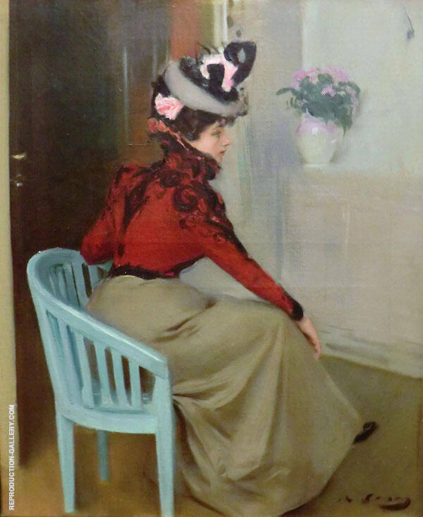 The Pensive By Ramon Casas