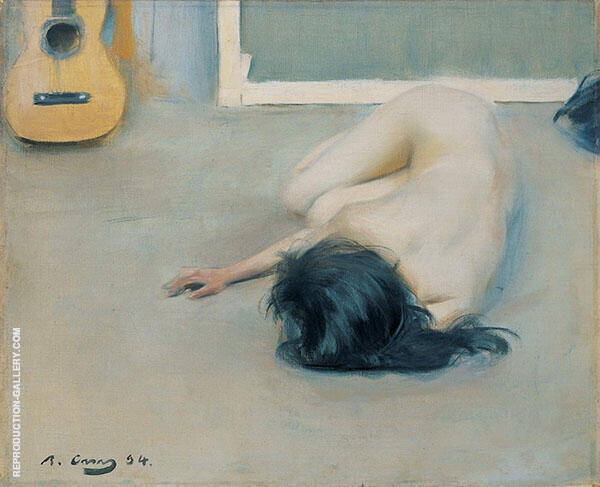 Nude with Guitar By Ramon Casas