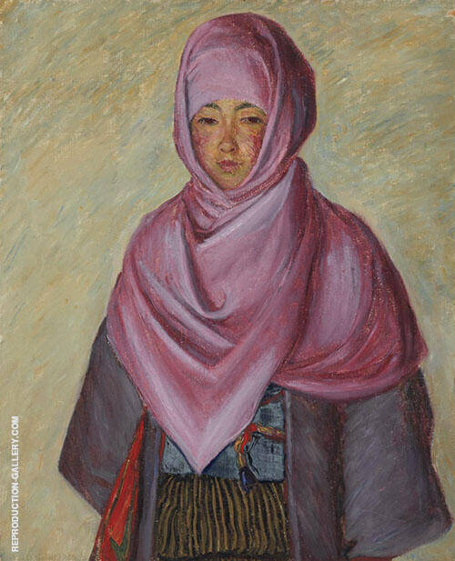 The Purple Shawl Painting By Lilla Cabot Perry - Reproduction Gallery