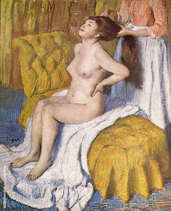 Woman Having her Hair Combed c1886 Painting By Edgar Degas