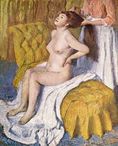 Woman Having her Hair Combed c1886 By Edgar Degas