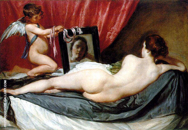 Venus at her Mirror, aka The Rokeby Venus, 1647 By Diego Velazquez