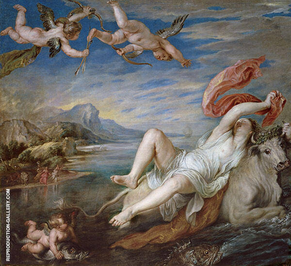 The Rape of Europe c1628 By Peter Paul Rubens